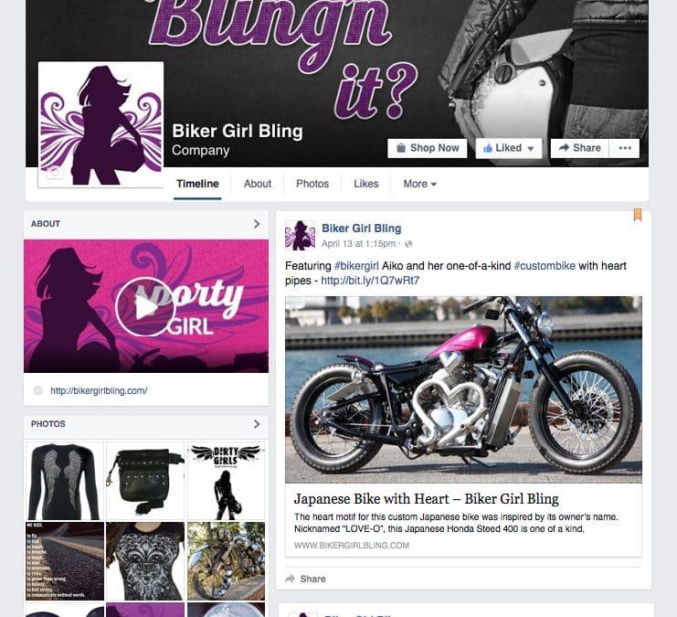 Biker Girl Bling Facebook Cover
