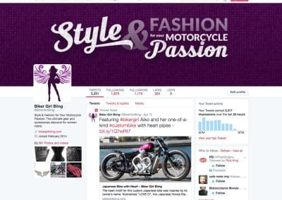 Biker Girl Bling Twitter Cover