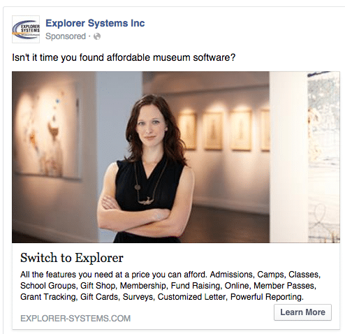 Explorer Systems Facebook Ad Campaign