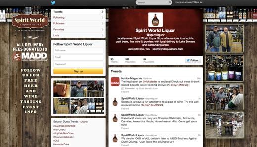 Spirit World Liquor Store Twitter Cover