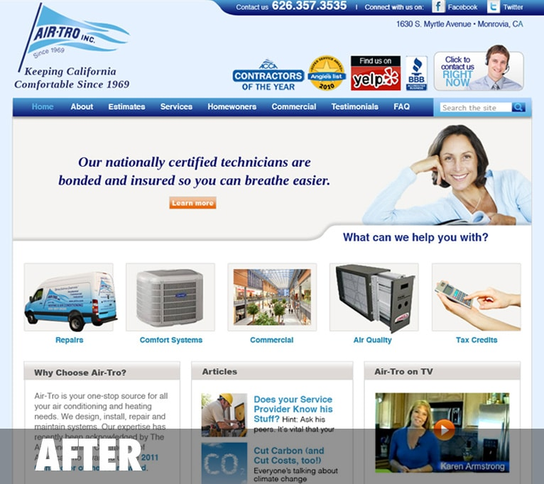Case Study: Air-Tro Website Redesign