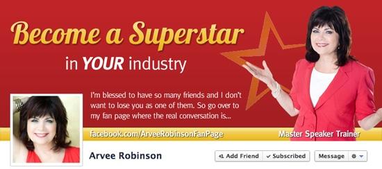 Arvee Robinson Facebook Cover